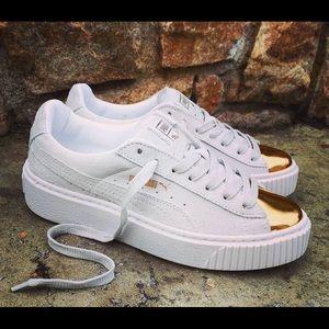 FENTY Gold Toe Suede Puma Sneakers